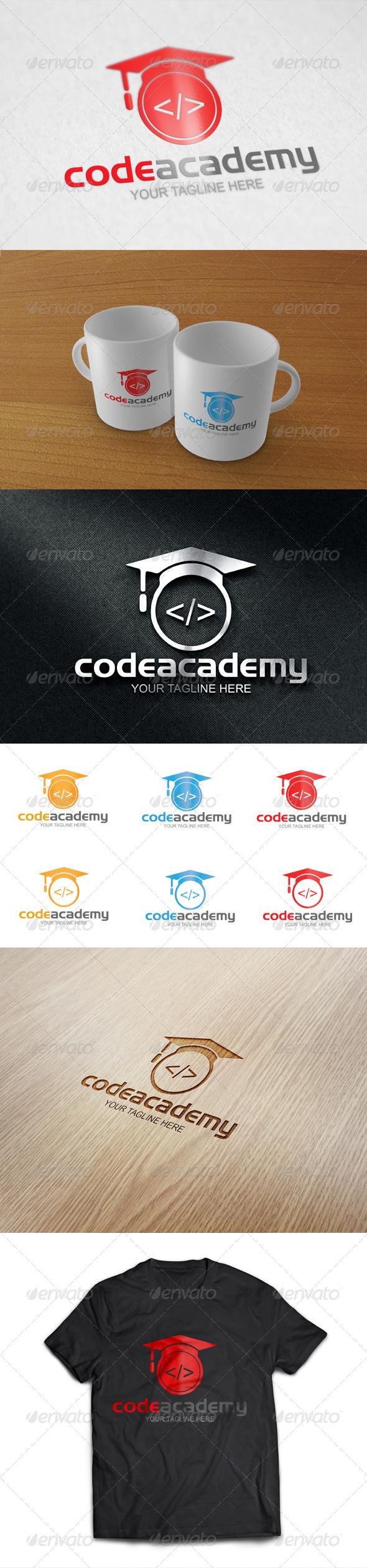 GraphicRiver Code Academy Logo Template 8470286
