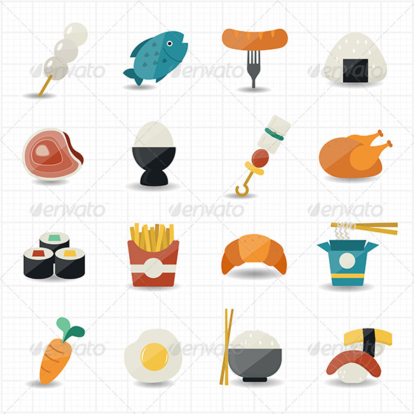 GraphicRiver Food Icons Set 8470305