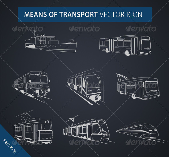 GraphicRiver Means of Transport Icon 8454574