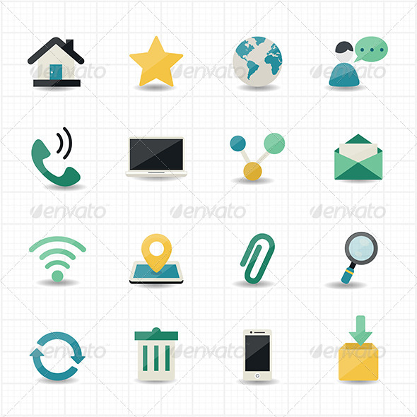GraphicRiver Internet and Website Icons 8470329