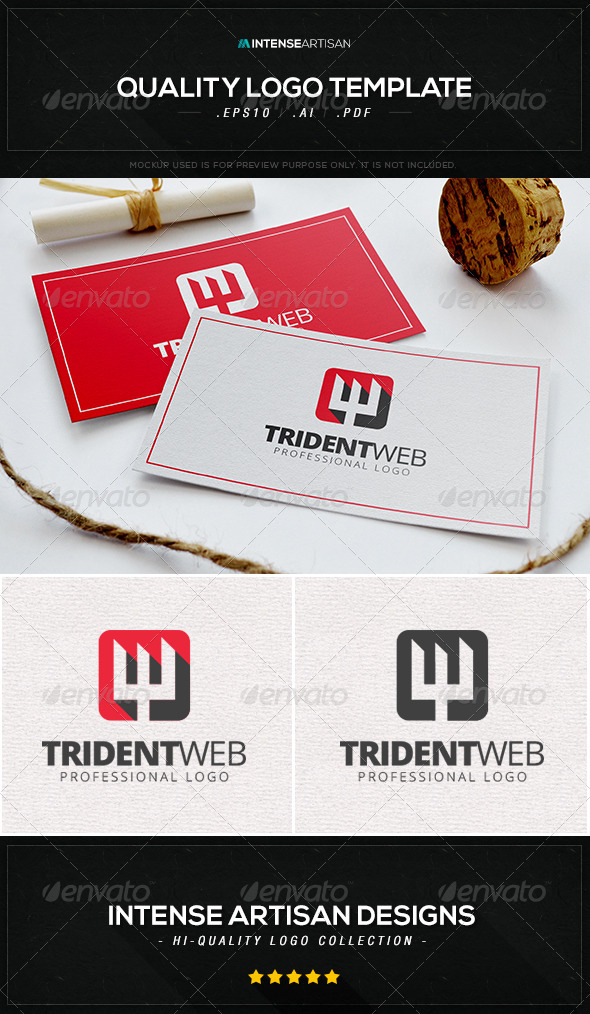 GraphicRiver Trident Web Logo Template 8470346