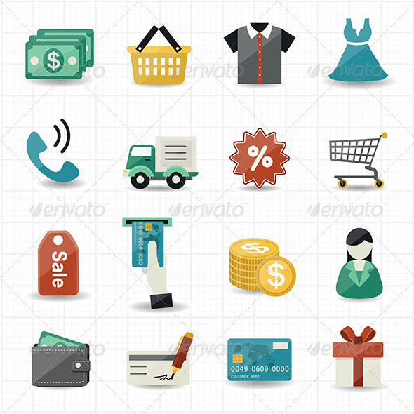 GraphicRiver Shopping Icons 8470403
