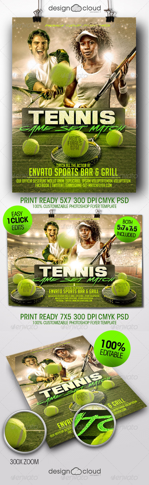 GraphicRiver Tennis Game Set Match Flyer Template 8428432