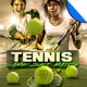 Tennis - Game, Set Match Flyer Template - GraphicRiver Item for Sale