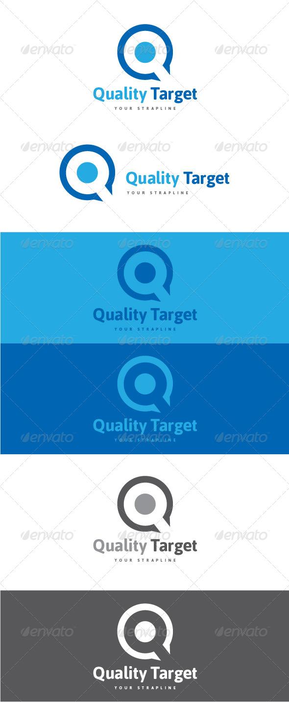 GraphicRiver Quality Target Letter Q Logo 8470837