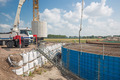 Construction site of a foundation for a huge new Dutch wind turbine - PhotoDune Item for Sale