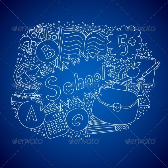 GraphicRiver School Doodle Object 8470904