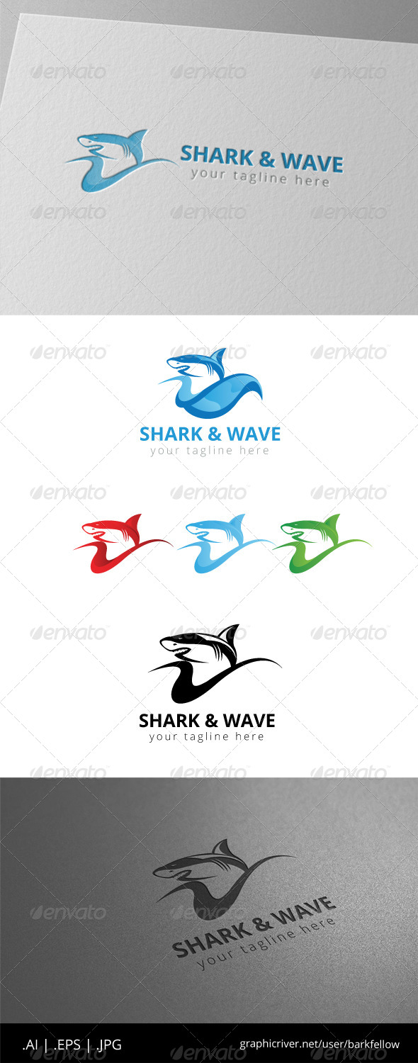 GraphicRiver Shark and Wave Logo 8470916