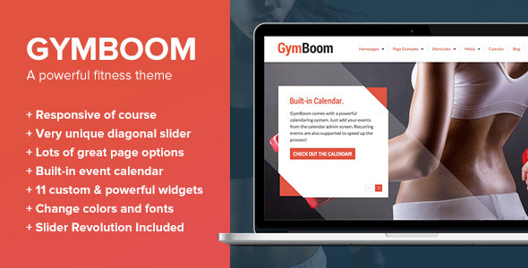 GymBoom - A Fitness/Gym WordPress Theme