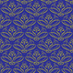 seamless background with ornament. Yellow on blue - PhotoDune Item for Sale