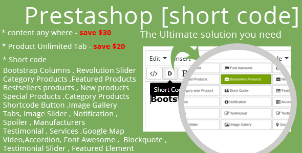 CodeCanyon Prestashop Short Code 8470937