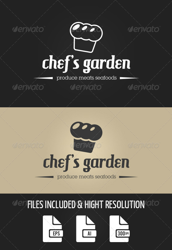 GraphicRiver Chef s Garden Logo Templates 8471333