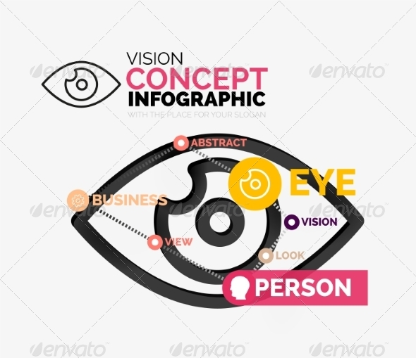 GraphicRiver Vision Eye Infographic Conceptual Composition 8471357