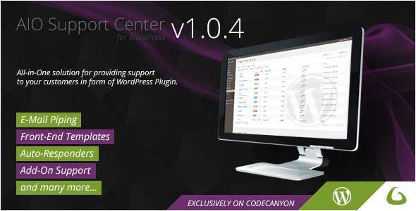 AIO Support Center is powerful, but easy to use ticketing system for your WordPress site. Main Features Multiple user roles that are not depending on WordPress