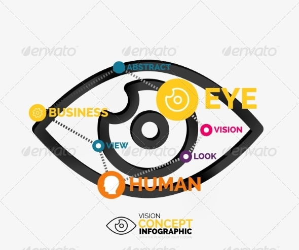 GraphicRiver Vision Eye Infographic Conceptual Composition 8471361