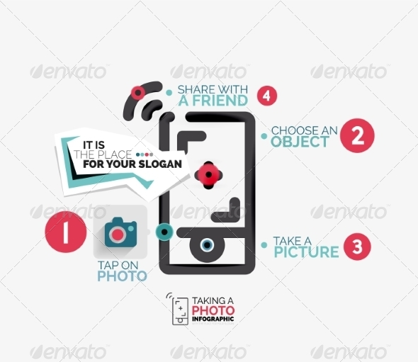 GraphicRiver Mobile Photo Shooting Flat Line 8471370