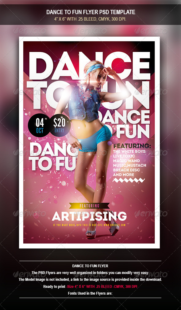 GraphicRiver Dance To Fun Flyer 8471782