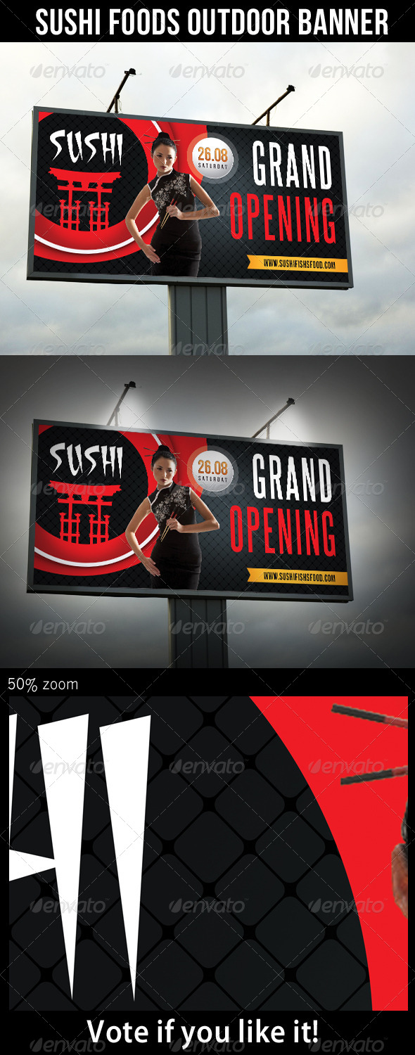 GraphicRiver Sushi Food Outdoor Banner 01 8471797