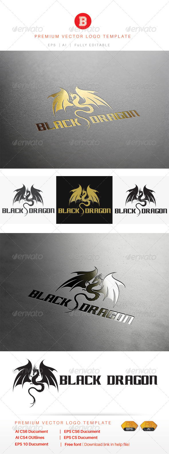 GraphicRiver Black Dragon 8471798