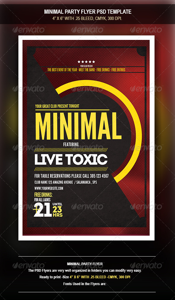 GraphicRiver Minimal Party Flyer 8471799