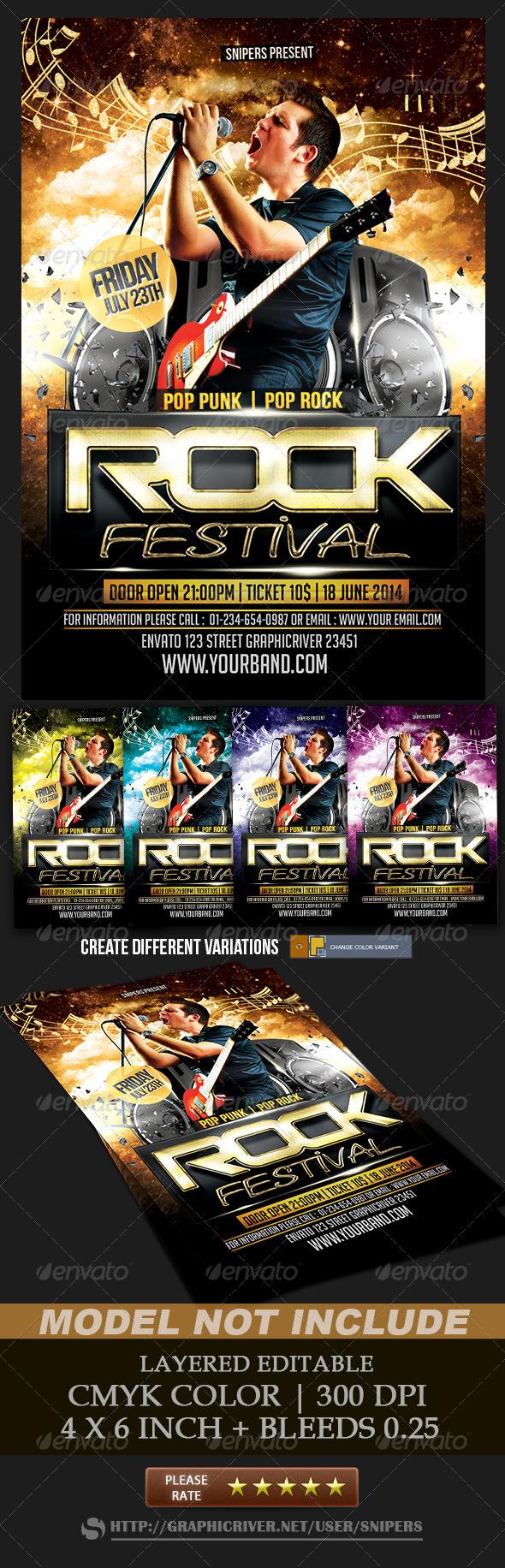 GraphicRiver Rock Festival 8471800