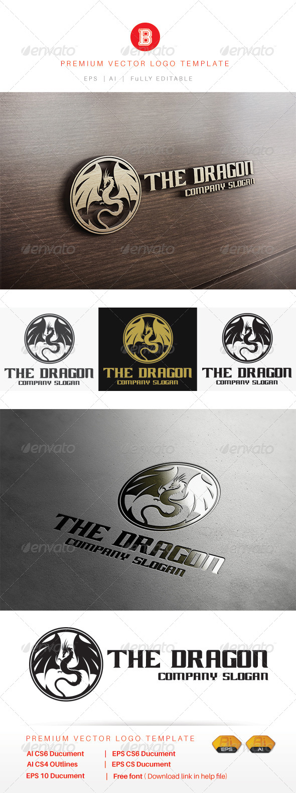 GraphicRiver The Dragon 8471804