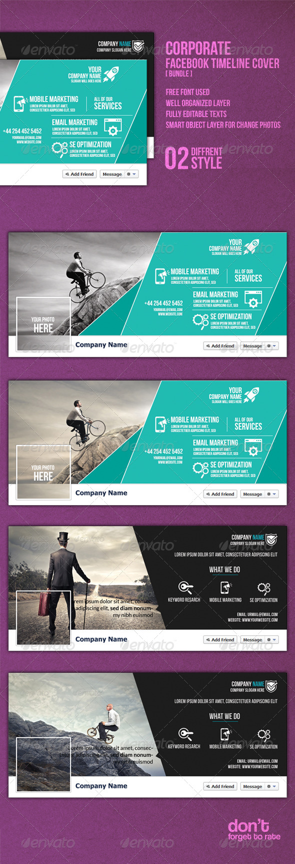 GraphicRiver Corporate Facebook Bundle 8471833