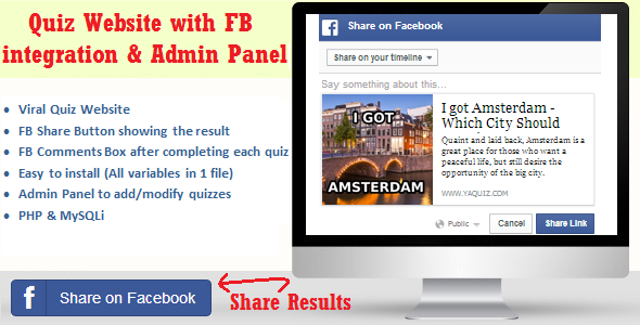 CodeCanyon Facebook Viral Quiz Website with Admin Panel 8340262