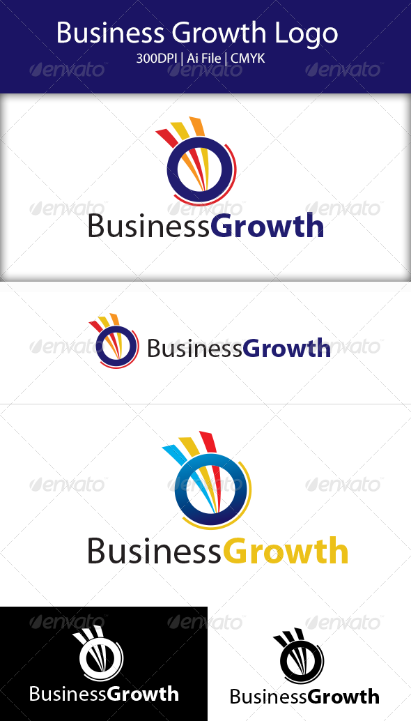 GraphicRiver Business Growth Logo 8471882
