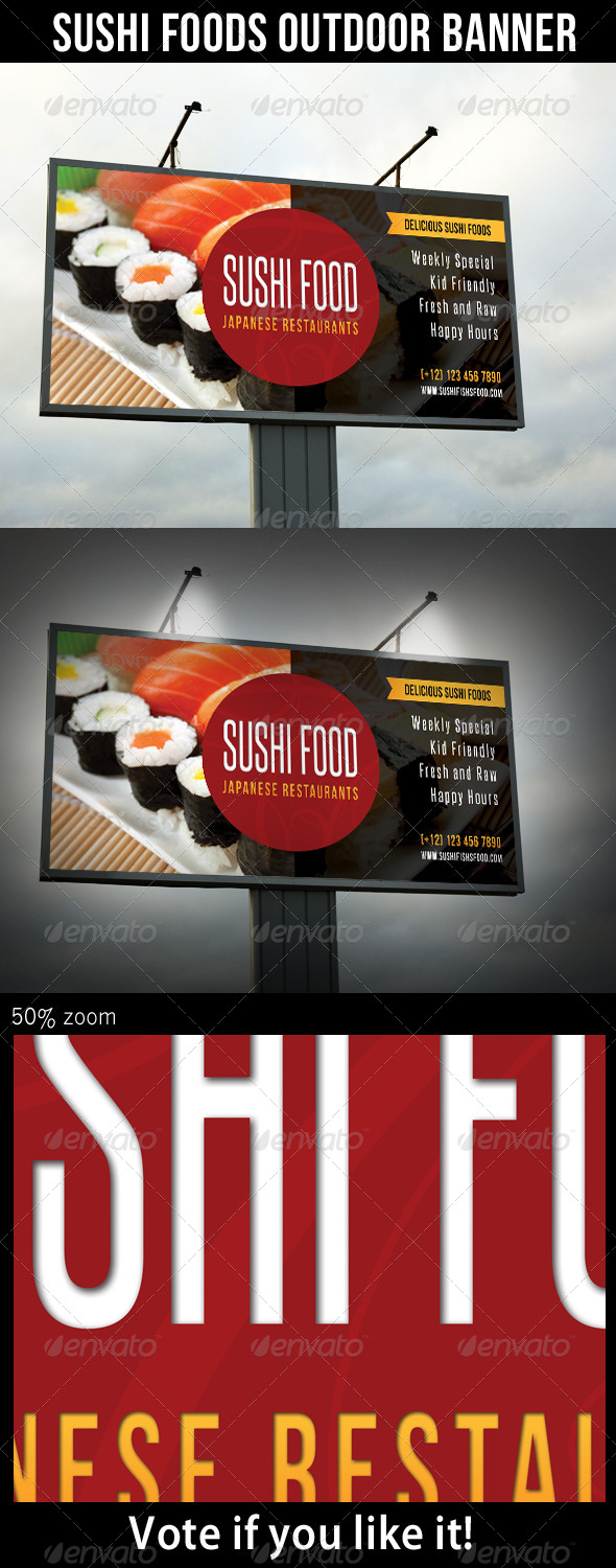 GraphicRiver Sushi Food Outdoor Banner 02 8471936
