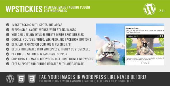 wpStickies - The Premium Image Tagging Plugin - CodeCanyon Item for Sale