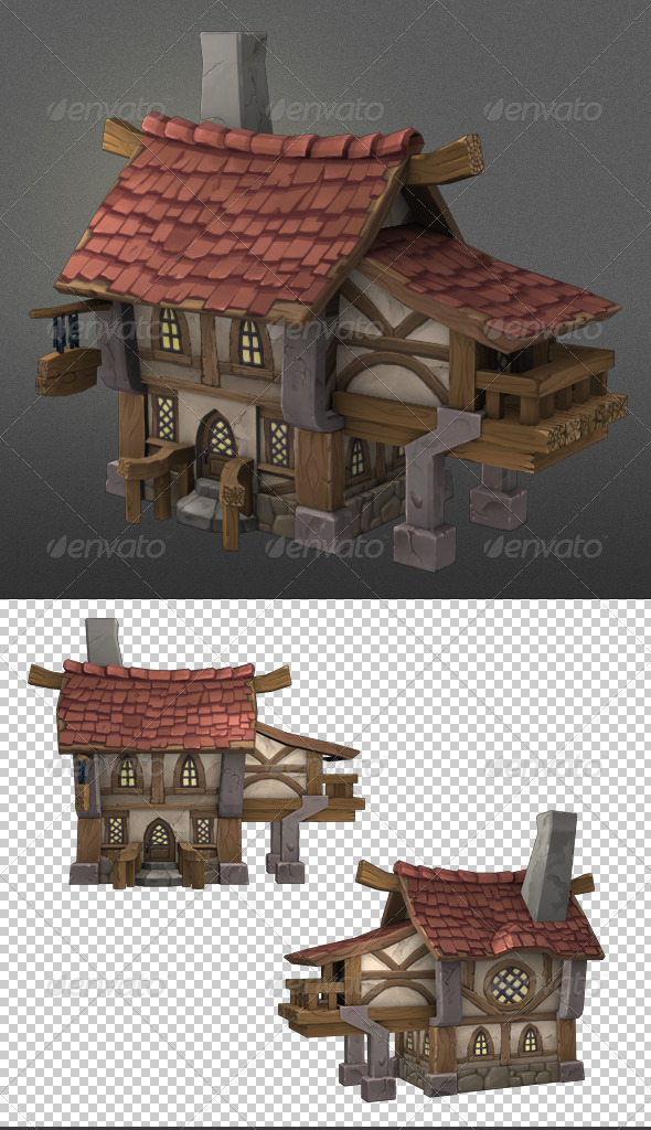 GraphicRiver Wood House1 8467000