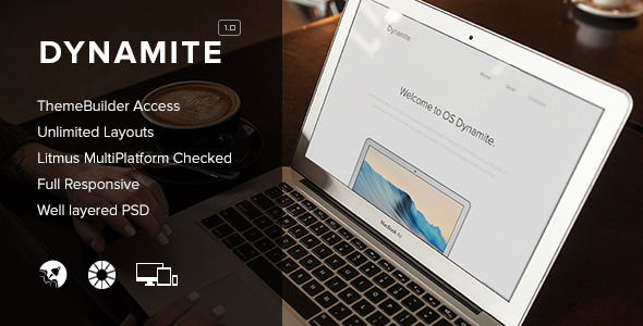 ThemeForest Dynamite Responsive Email & Themebuilder Access 8472348