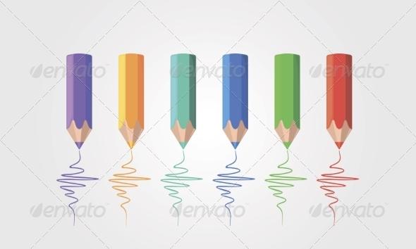 GraphicRiver Colored Pencils 8472363