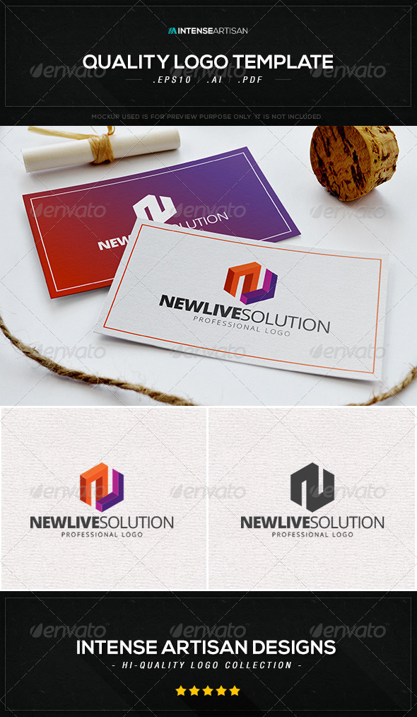 GraphicRiver Newlive Solution Logo Template 8472370