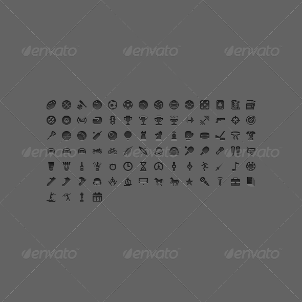 GraphicRiver Sport Glyphs 8472381