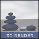 3D Zen-Stones - GraphicRiver Item for Sale