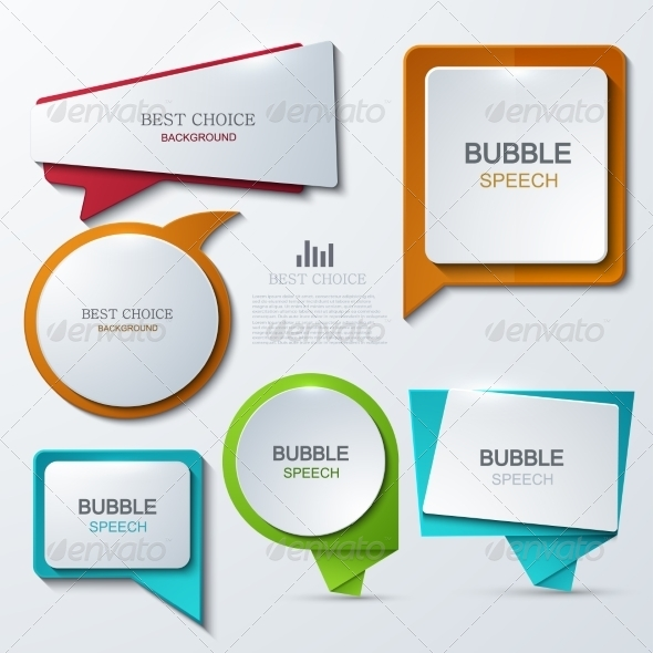 GraphicRiver Modern Bubble Speech Icons Set 8472421