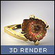 Fossilised Ammonite Ring - GraphicRiver Item for Sale