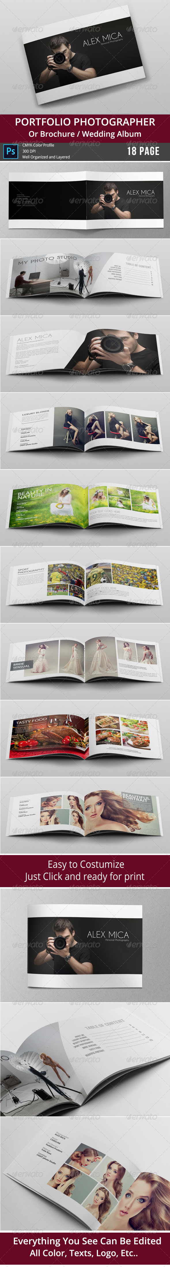 GraphicRiver 18 Pages Photography Portfolio or Photo Album 8472680