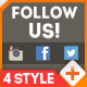 Follow Us On Social Media 4 Style - VideoHive Item for Sale