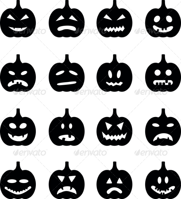GraphicRiver Pumpkins Set for Halloween 8472910