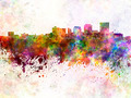 Dayton skyline in watercolor background - PhotoDune Item for Sale