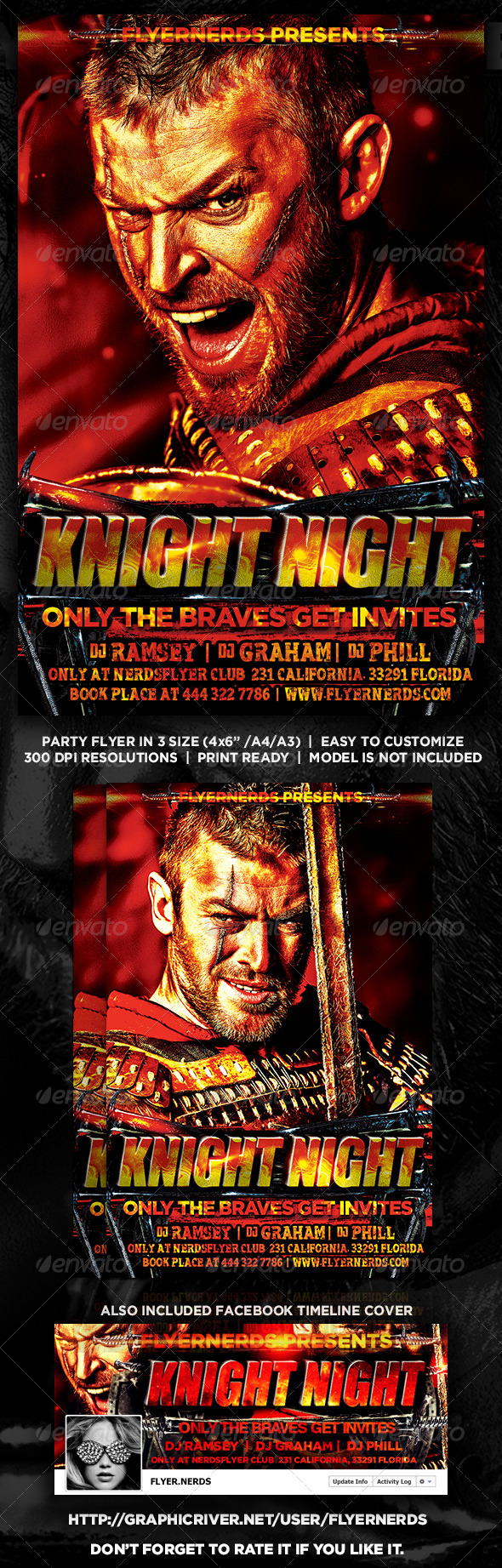 GraphicRiver Knight Night Party Flyer 8399520