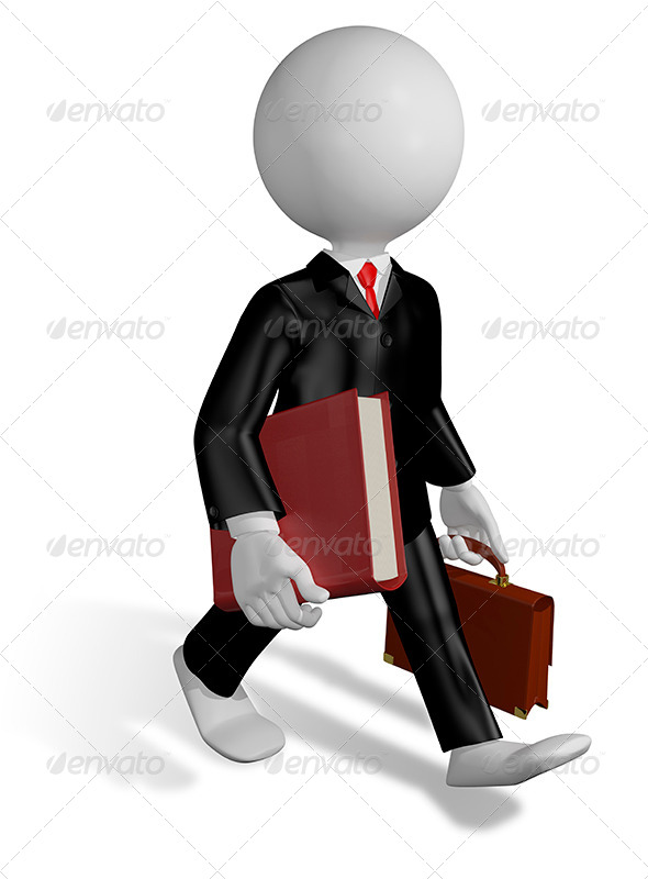 GraphicRiver Running Lawyer 8473500