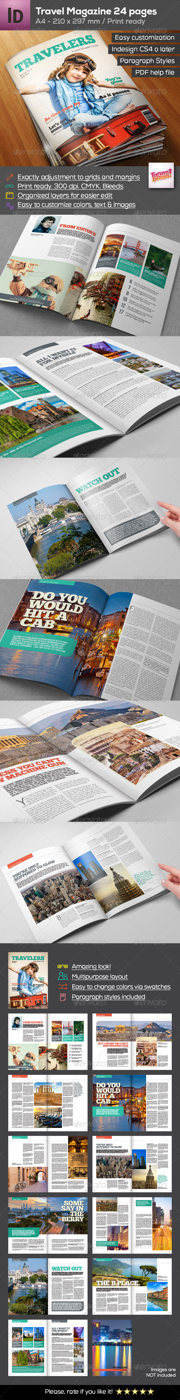 GraphicRiver A4 Travel Magazine 24 pages 8473611