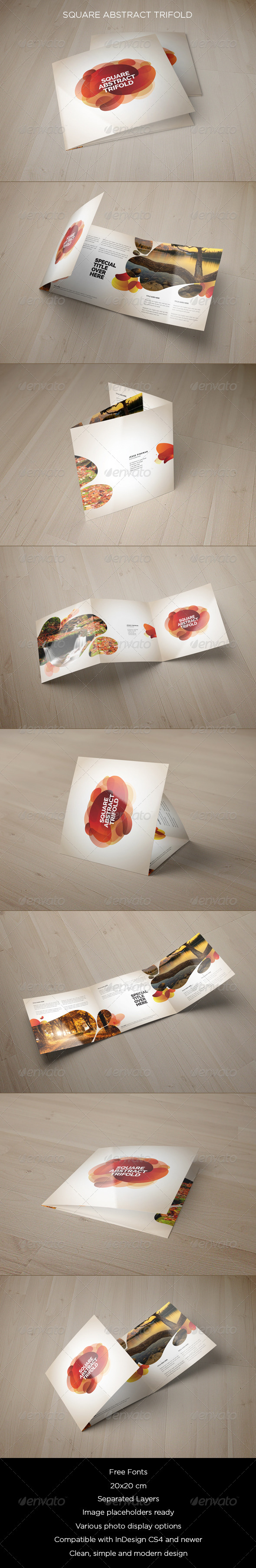 GraphicRiver Square Abstract Trifold 8473773