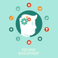 Personal development concept in flat style - PhotoDune Item for Sale
