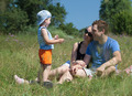 Family outdoor on a bright summer day - PhotoDune Item for Sale
