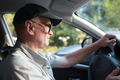 Senior man at the wheel - PhotoDune Item for Sale